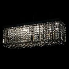 Rectangular Chandelier With Crystals Fashion Style Rectangle Crystal Lights Beautifulhalo Com
