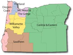 map of oregon state list of parks located in oregon