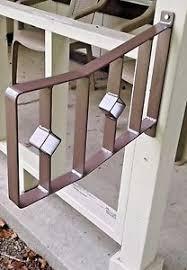 2 Step Handrail Wrought Iron 1 2 Step Handrail Hammered Bronze Diamond Porch Patio