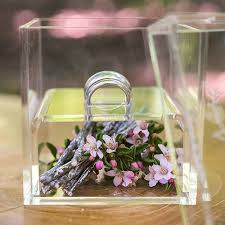 Wedding Ring Box by Botanical Wreath Etching Acrylic Wedding Ring Box Wedding And