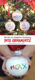 turn your handwriting and drawings into ornaments so