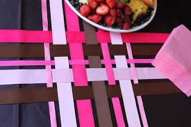 woven ribbon ribbon table runners the bright ideas