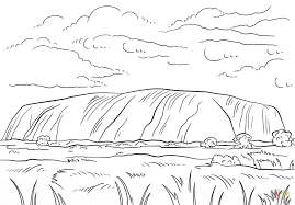 uluru ayers rock coloring page free printable coloring pages