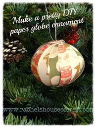 paper globe ornament u2014 rachel u0027s house of craft