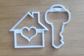 housewarming cookies house key cookie cutter 3d printed set home cookies