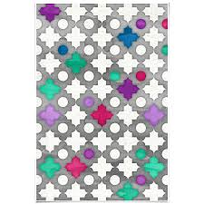 Moroccan Pattern Art Moroccan Wall by Dailyobjects Color Pop Moroccan In Fuchsia Blue Small Wall Art