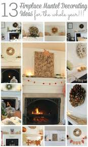fireplace mantel christmas ideas brick decorating holiday