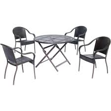 All Weather Wicker Patio Dining Sets - atlantic contemporary lifestyle grand new liberty deluxe gray