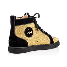 mens christian louboutin sneakers yellow