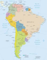 South America Political Map by Map South America