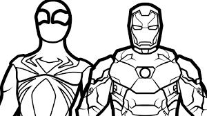 iron spiderman vs iron man coloring pages for kids coloring book