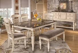 Bench Style Dining Table Sets Dining Room Amusing White Country Style Dining Table French