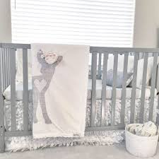Baby Deer Crib Bedding Deer Faux Fur Blanket Antler Minky Blanket Deer Nursery