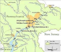 Delaware rivers images Delaware river basin commission river mileage system gif