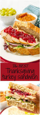 leftover thanksgiving turkey cranberry cheese sandwich