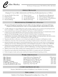 resume examples for management