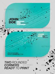 Business Cards Rounded Corners Rounded Minimalistic Business Card By Katro Graphicriver