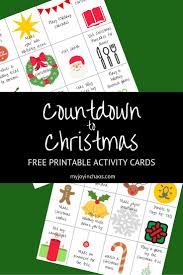 countdown to christmas activities free printable u2014 my joy in chaos