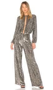 sleeve sequin jumpsuit x revolve zeda jumpsuit in silver sequin revolve