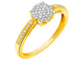 apart pierscionki zareczynowe pierścionek z żółtego złota z diamentami wzór 160 324 apart