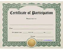 spelling bee participation certificate templates certificate