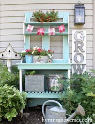 Inexpensive Potting Bench by Red White And Aqua Blue Potting Bench Potting Benches Farmhouse