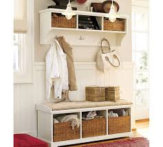 Mudroom Furniture Ikea by Small Mudroom Cubby Design Made From Wood With Bench Seat And