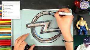 opel logo history how to draw the opel logo youtube