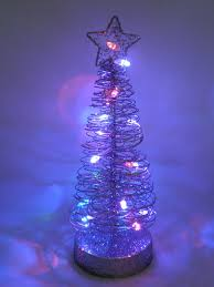 concepts 25cm light up tree wire table centre