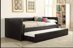 bedroom white trundle daybed with headboard bookshelves and