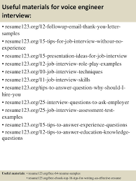 Field Service Engineer Resume Sample Top 8 Voice Engineer Resume Samples