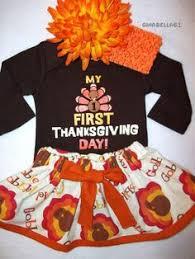 1st thanksgiving skirt baby turkey day dress up size