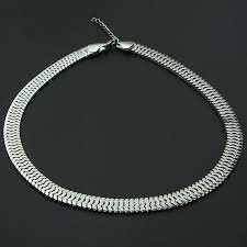 mens chain necklace silver images Buy bib silver gold thick snake link chain necklace mens womens jpg