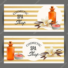 Salon Invitation Card Oil Cosmetic Bottle With Vanilla And Candle Template Cosmetic