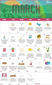 brightnest your march calendar for spring cleaning printable