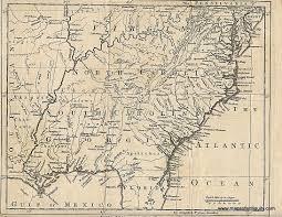 Virginia North Carolina Map by A Map Of Virginia North And South Carolina Georgia Maryland