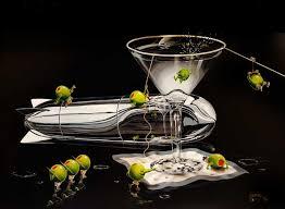 martini glass painting michael godard art for sale