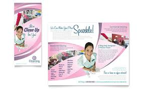 cleaning brochure templates free house cleaning services brochure template design
