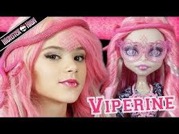 monster high viperine gorgon doll makeup tutorial for or cosplay kittiesmama 2016 09