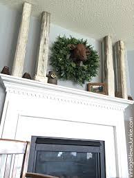 rustic farmhouse mantel u0026 balsam hill giveaway
