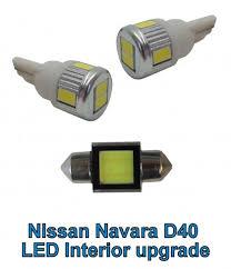 Navara D40 Interior Nissan Navara D40 Interior Light Led Upgrade Kit 3pc White