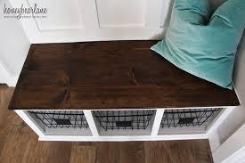 how to make entryway bench diy mudroom bench honeybear lane