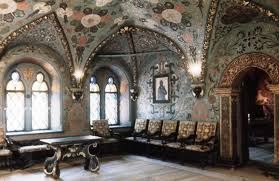 inside moscow kremlin walls terem palace room of the cross next