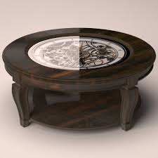 Clock Coffee Table 3d Table Coffee Clock Model Turbosquid 1221113