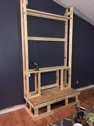 How To Build Fireplace Mantel Shelf - diy pallet wood fireplace hometalk