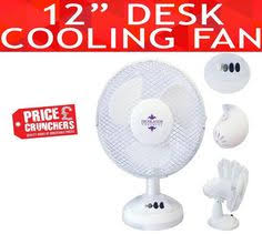 Small Oscillating Desk Fan 9 Inch Portable Electric Oscillating Cooling Air Fan Desk Table