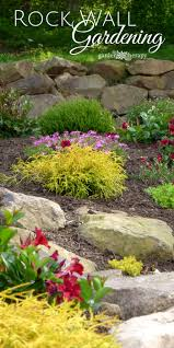 Garden Tips And Ideas Creating And Structure With A Rock Wall Garden Garden Therapy