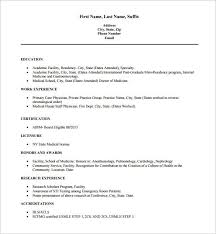 resume exle format pdf md physician doctor resume free pdf download template 16 word