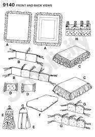 Diy Crib Bedding Set Fitted Sheet Dust Ruffle For Crib Sewing Pattern 9140 Simplicity