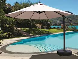 Patio Offset Umbrellas Outdoor Offset Umbrellas Luxedecor